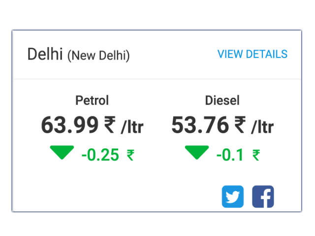 Petrol price in Kerala today, Diesel price in Kerala today